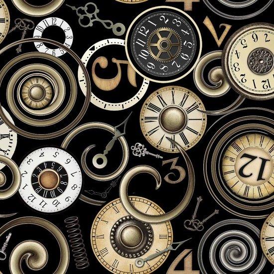 TIMELESS BLACK-CLOCK FACES