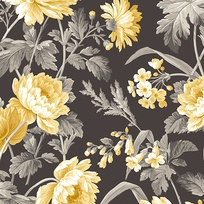 Hideaway CHARCOAL-STEMMED FLORAL