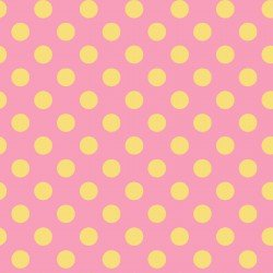Litttle One Flannel Too Pink/Yellow Dots