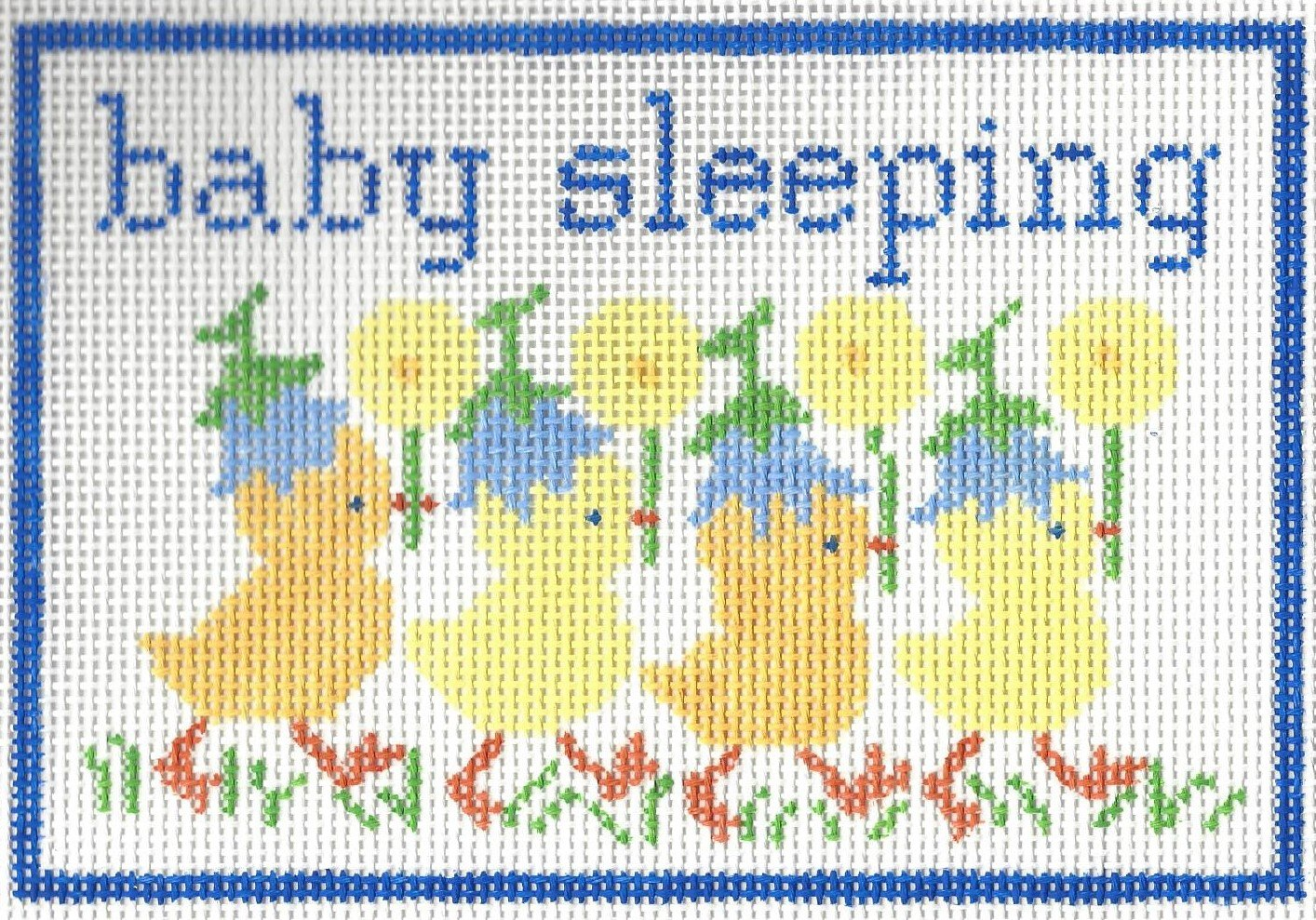 Baby Sleeping with Ducks - Blue