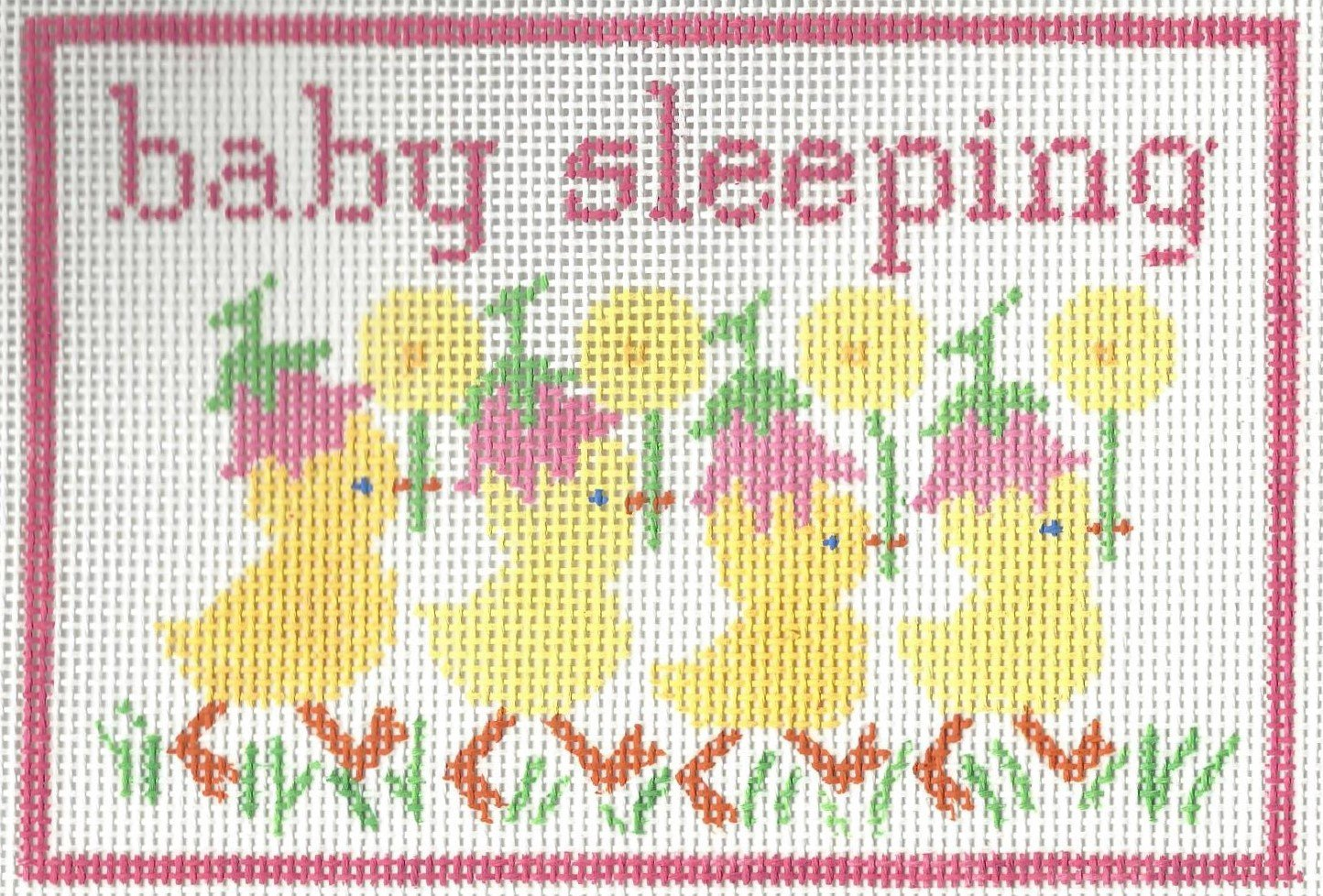 Baby Sleeping with Ducks - Pink