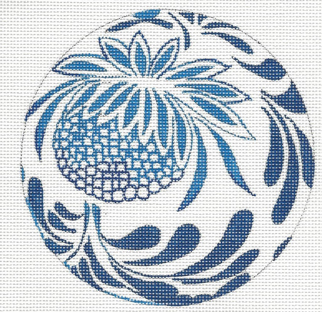 Blue & White Ball with Pineapple