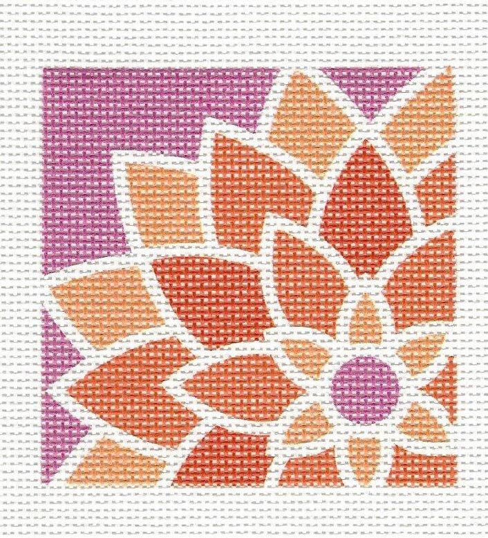 Graphic Flower Square - Orange