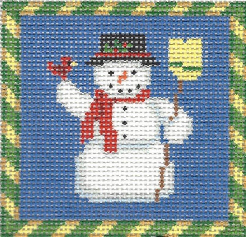 Ornament Snowman and Cardinal