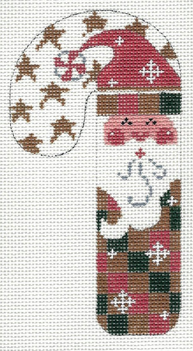 Candy Cane - Red and Green Checkered Santa
