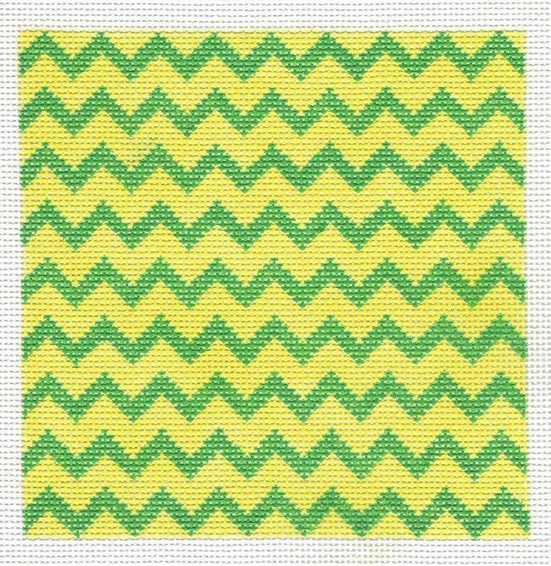 Zig Zag Insert - Green & Yellow