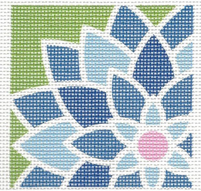 Graphic Flower Square - Blue