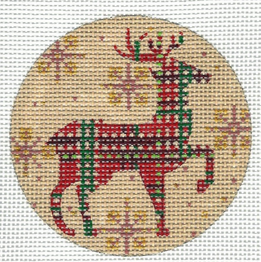 Red and Green Plaid Reindeer