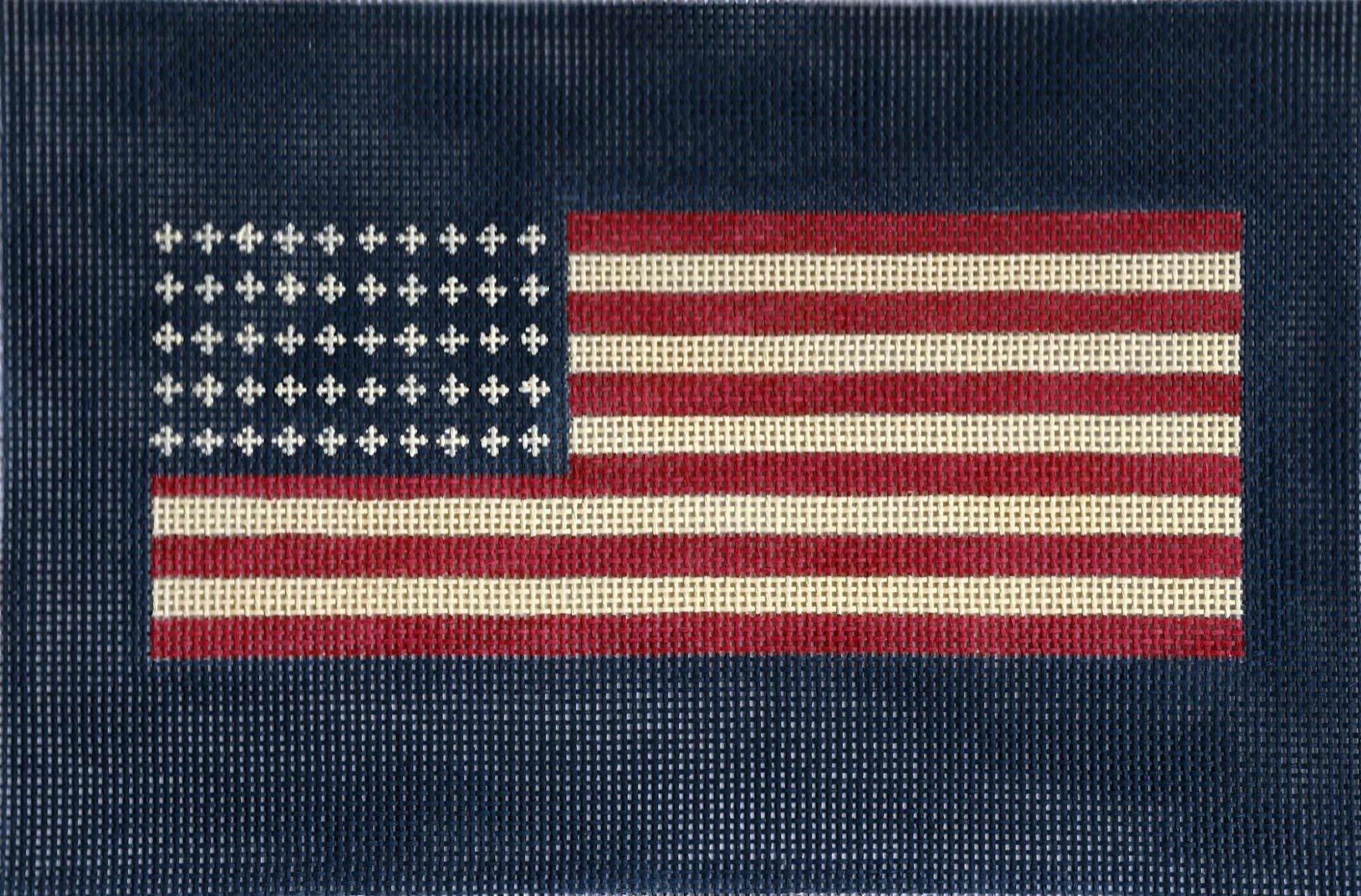 U. S. Flag with Navy Background