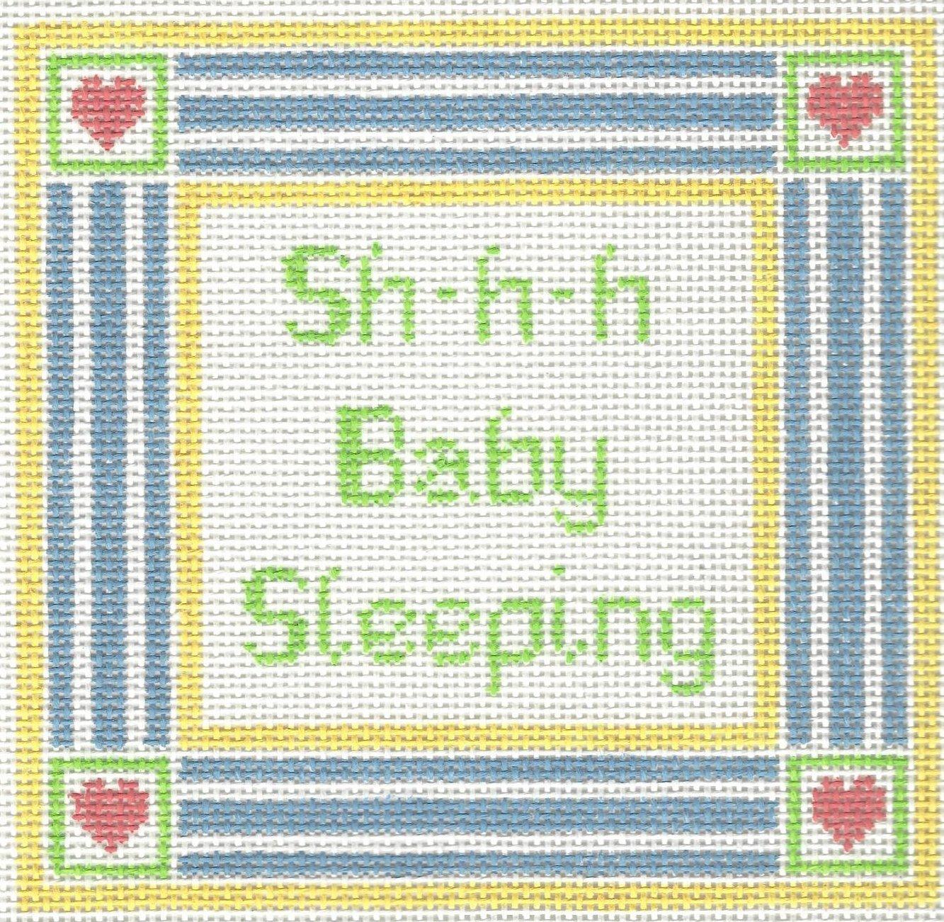 Baby Sleeping Stripes & Hearts