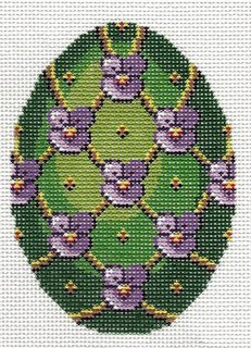 Faberge Egg - Green with violets