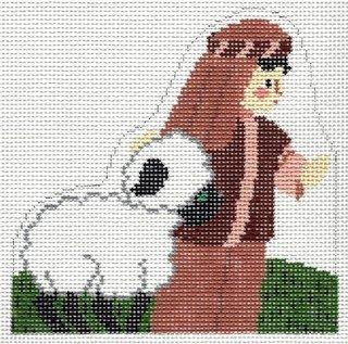 Creche Shepherd with Lamb