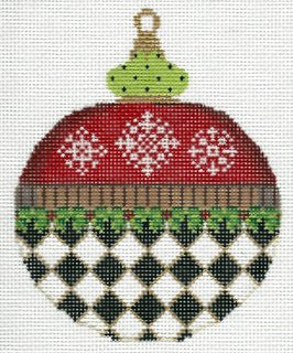 Ornament - Red Black and White