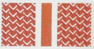 Eyeglass Case  -  Y Pattern in Orange
