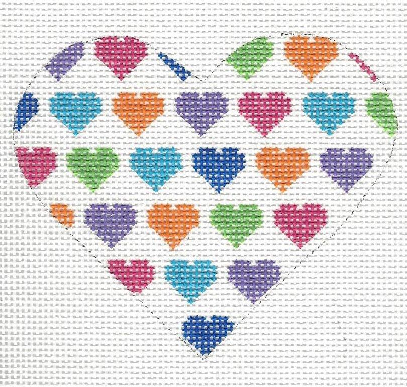 Heart - White Multi Color