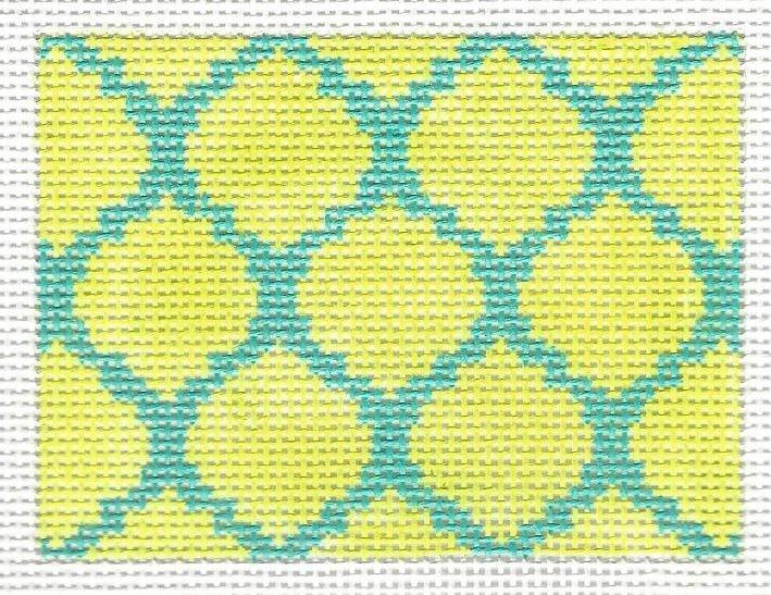 Insert - Quatrefoils - Lime on Cobalt