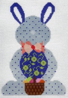 Bunny - Blue with Dots