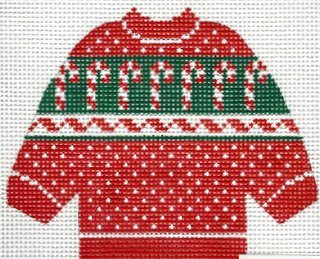 Pullover Sweater Candy Canes