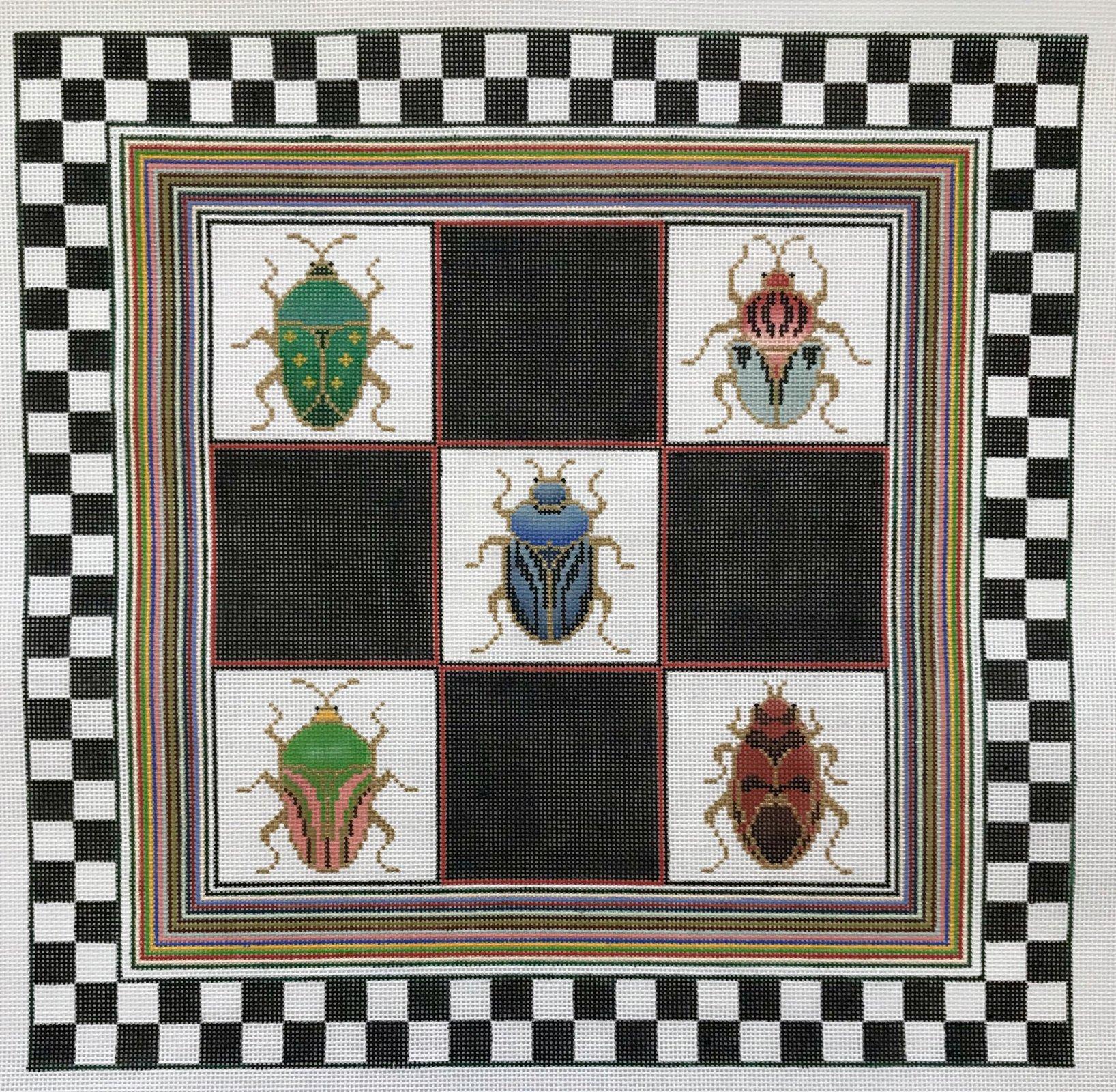 Beetle & Checks Pillow
