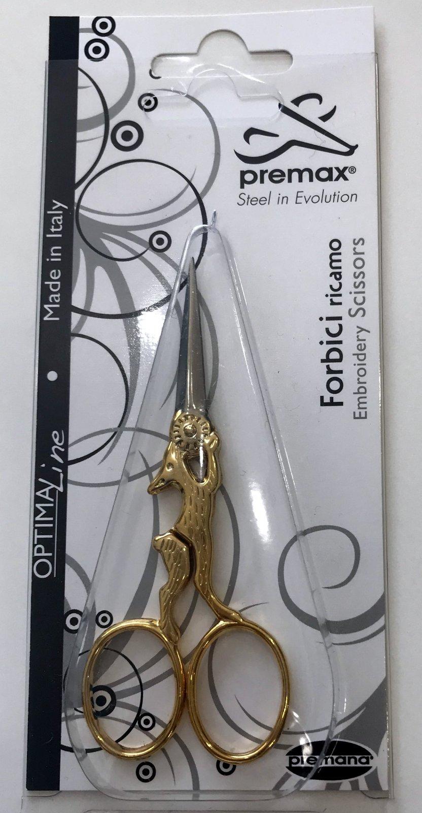 Premax Gold Handled Rabbit Scissors