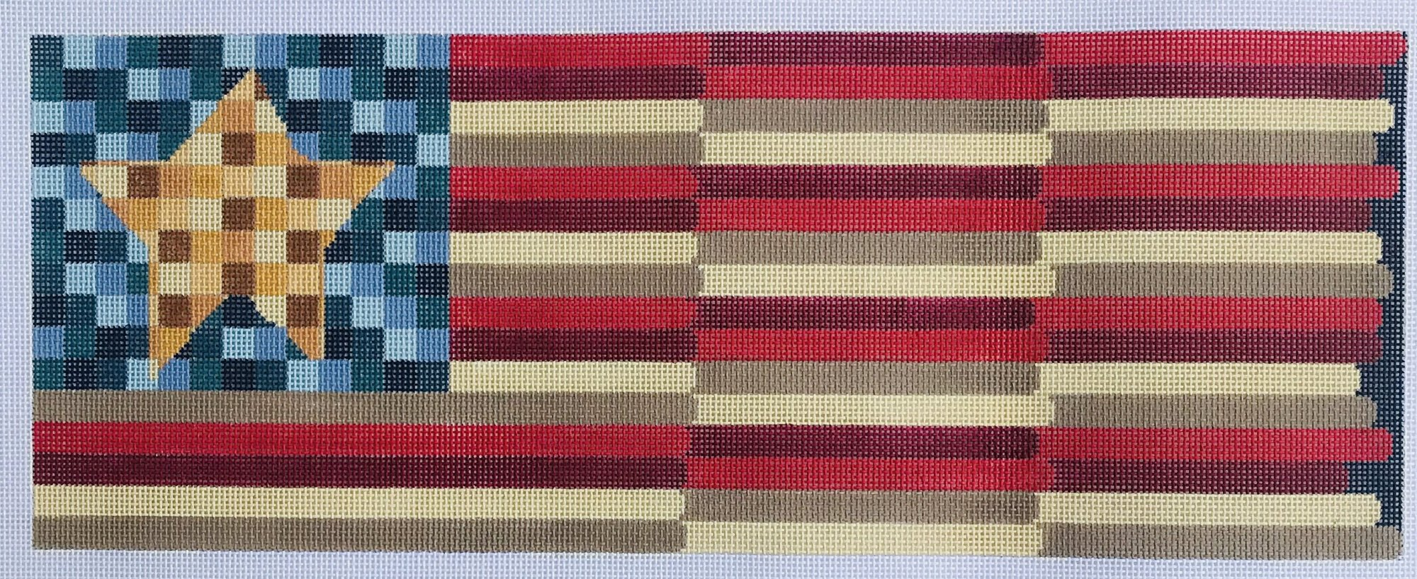 Waving Flag wtih Squares and Stripes