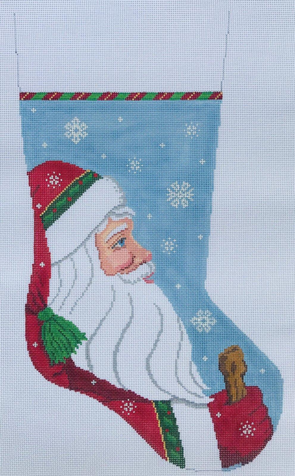 Stocking Snowing Santa
