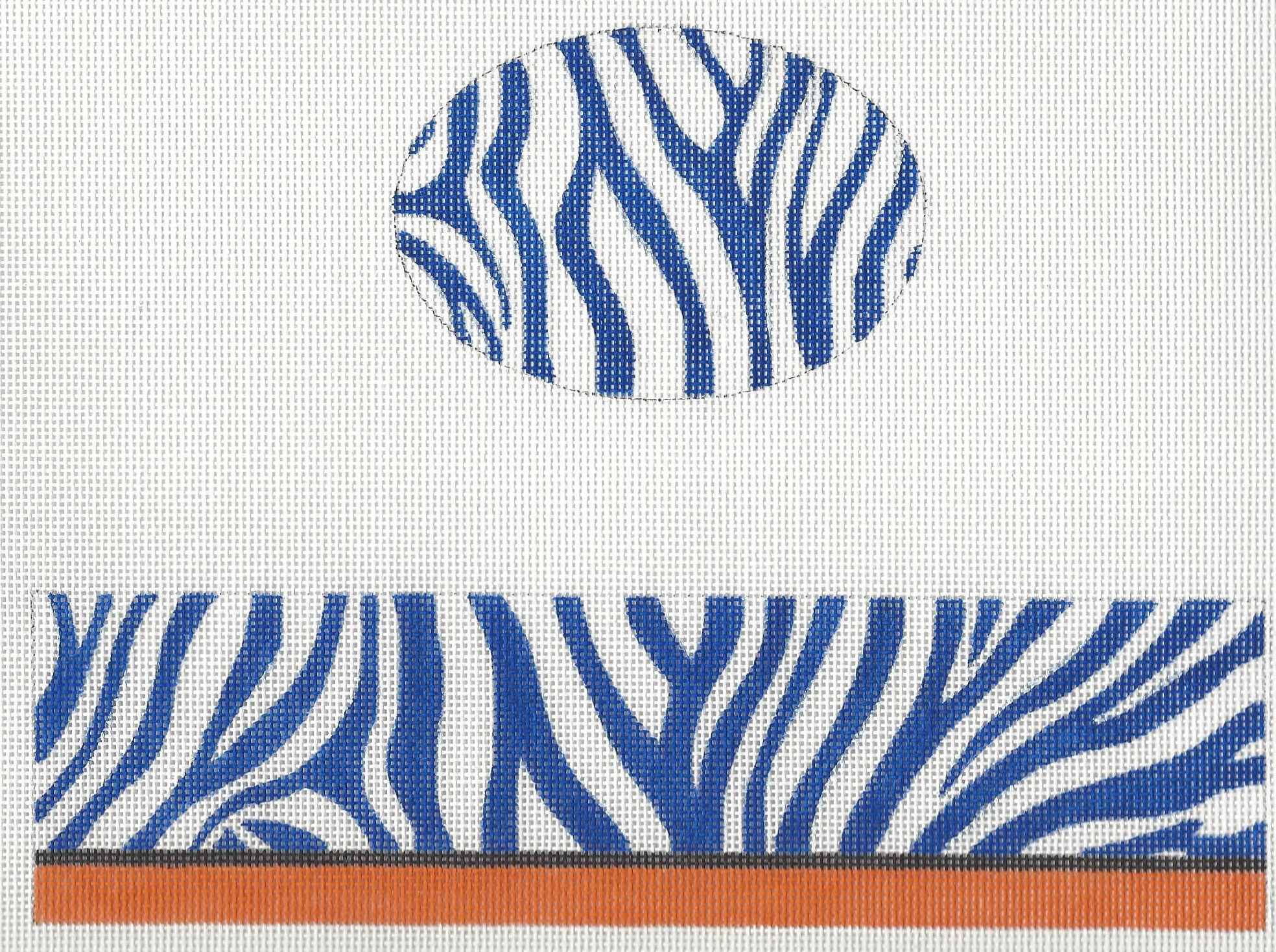 Hinged Box Blue Zebra
