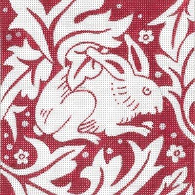 Blockprint Red Rabbit
