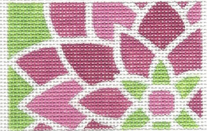 Graphic Flower Rectangle - Pink