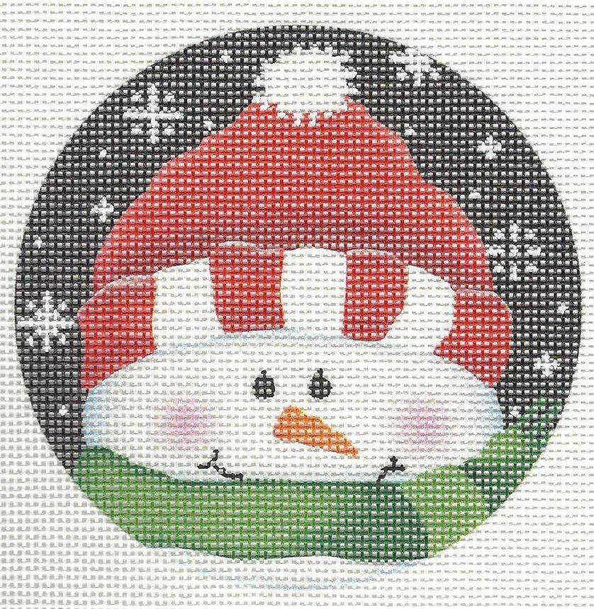Brrr...Red & Green Snowman