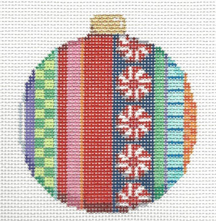 Ball Ornament - Merry Stripe II