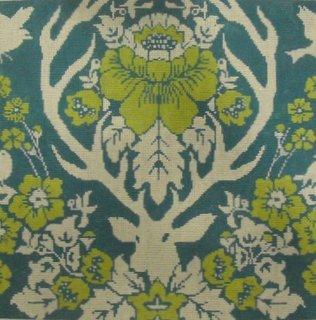 Antler Damask - Peacock