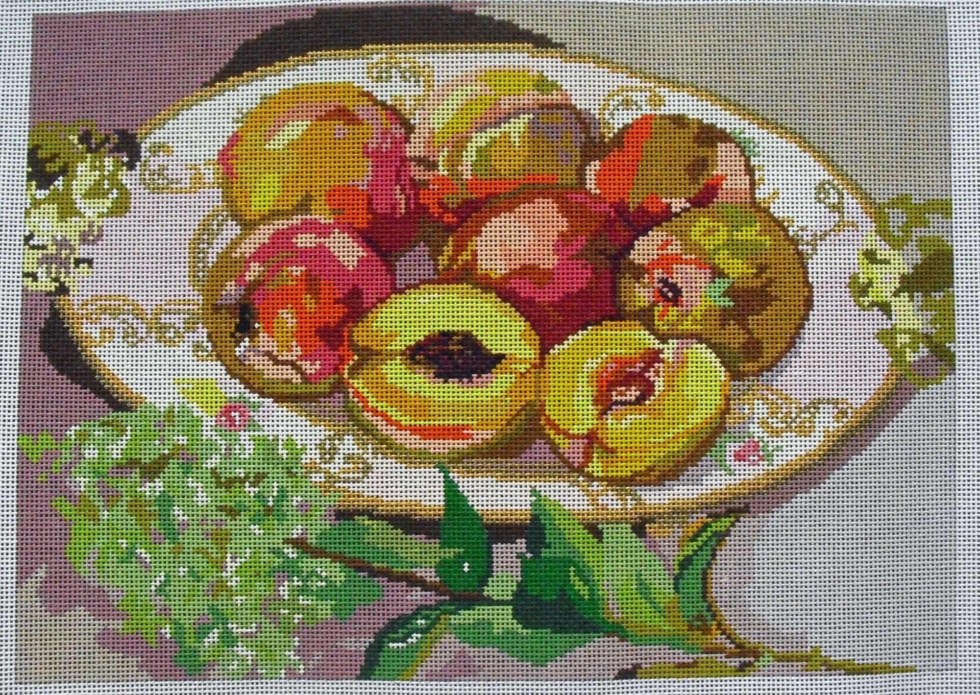 China with Hydrangea & Peaches