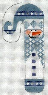 Light Blue & White Snowman