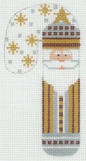 Gold Santa with Snowflakes
