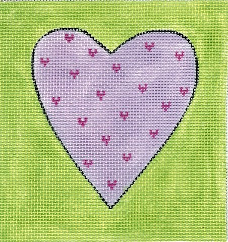 Lavendar/Chartreuse Heart