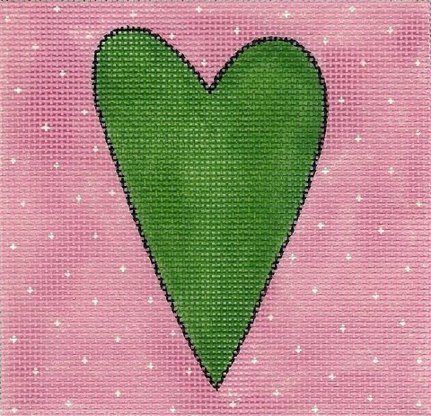 Green and Pink Heart