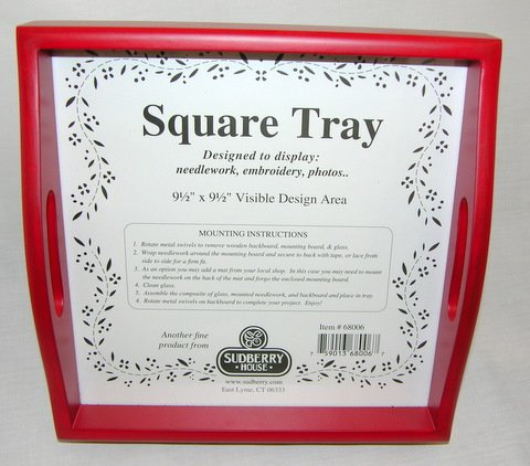 Square Tray - Red
