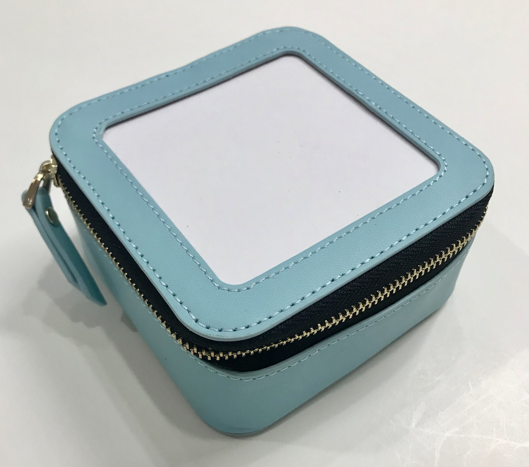 Square Jewelry Case - Aqua