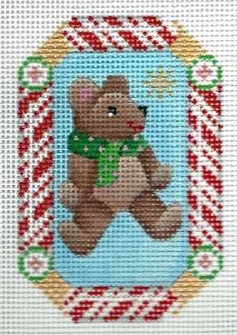 Candy Cane Ornament Teddy Bear