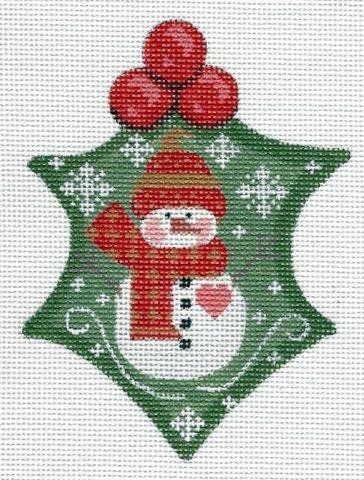 Holly Snowman Heart