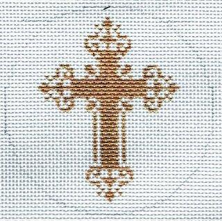 Round - Gold Cross