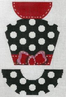 Polka Dot and Grosgrain Hat