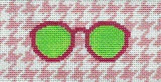 Eyeglass Case Pink Houndstooth