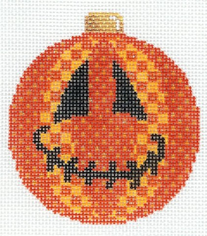 Halloween Jack O'Patch Ball Ornament