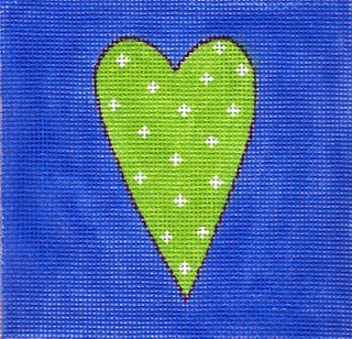 Lime/Blue Heart