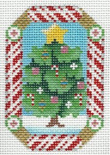 Candy Cane Ornament Christmas Tree
