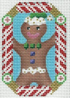 Candy Cane Ornament Gingerbread