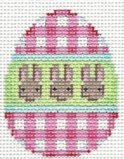 Egg Mini Pink Gingham/Bunnies