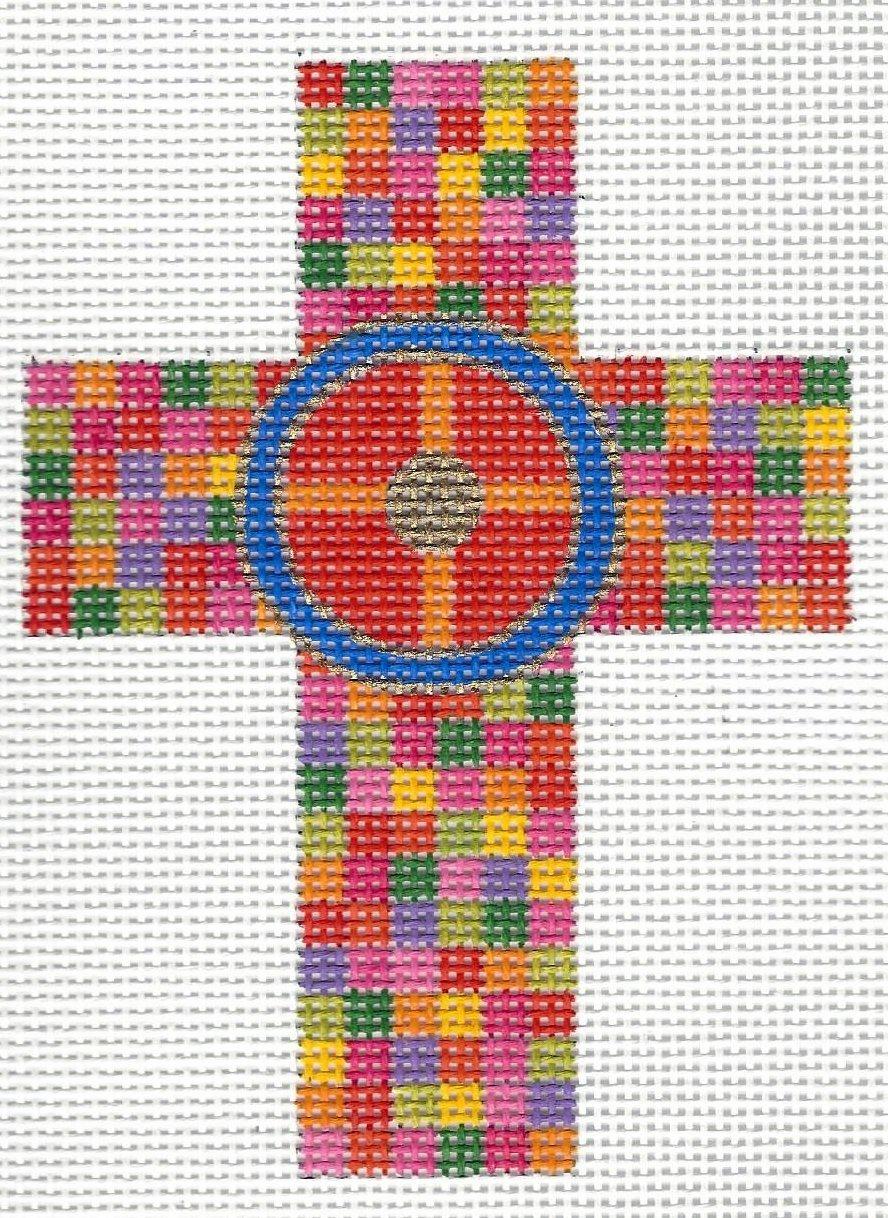 Multi Colored Checked Cross